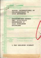 ! Diamanten, Diamonds, Zollerklärung, Declaration En Douane, Antwerpen, Anvers, Belgien - Minéraux