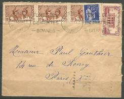 ENVELOPPE 1937  AVEC N� 136 ET 139 ET UN FRANCE TYPE PAIX N� 365