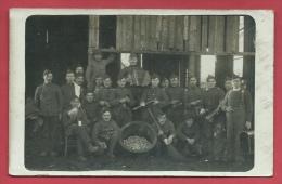 Gent - Groep Soldats - Fotokaart - 1920 ( Verso Zien ) - Gent
