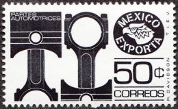 Timbre Du Mexique, 1975 & 76    _   Yvert N° 825E Neuf **   _  50 C. Pièces Automobiles, Pistons - Usines & Industries