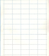 Czechoslovakia 1982 TUS / PTC - White - Sheet Of 50 Dummy Stamps - Specimen Essay Proof Trial Prueba Probedruck Test - Essais & Réimpressions