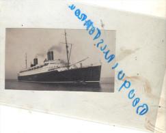 """Photo Ancienne  Navire Bateau Identifié """" Bremen """" Paquebot Allemagne - Boats"""