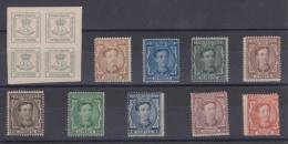 02090 España EDIFIL 173 - 182 * Catalogo 513,-€ - 1875-1882 Reino: Alfonso XII