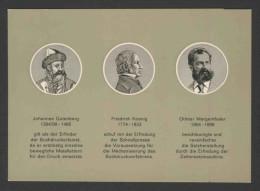Deutschland Germany 1965 Card + Mi 546 YT 411 Sc 978 ** 150th Ann. Printing Press / 150 Jahre Druckmaschinen - Factories & Industries