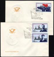 DDR 1967 - Jahrestag Der Matrosen Revolution - 2 FDC - Schiffe