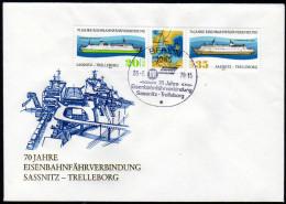 DDR 1979 - Eisenbahnfährverbindung / Sassnitz - Trelleborg - FDC - Schiffe