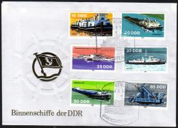 DDR 1981 - Binnenschiffe Der DDR - FDC - Schiffe