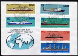 DDR 1982 - Hochseeschiffe Der DDR - FDC - Schiffe