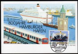 BRD 1989 - 800 Jahre Hamburger Hafen - MC - Schiffe