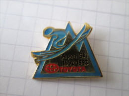Toyota Pin Ansteckknopf Alpen Ski 1992 1993 - Toyota