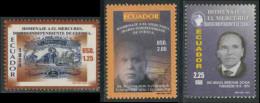 "Ecuador 2005 Mi 2813 /15 ** 80th Ann. ""El Mercurio"" Daily Newspaper In Cuenca, Ecuador / Tageszeitung / Journal - Ecuador"