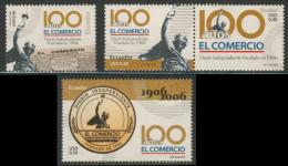 """Ecuador 2006 Mi 2890 /93 ** Cent. Daily Newspaper """"El Comercio"""", Quito / Tageszeitung / Journal / Dagblad - Ecuador"""