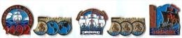B1 - CHRISTOPHE COLOMB 1492-1992 - Série 5 Pin´s - Verso : SM - Barcos