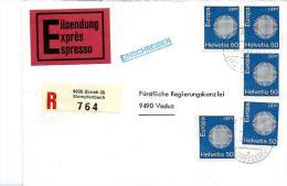 24105 - Enveloppe Recommandée  Exprès Envoyée De Zürich 35 - Marcophilie