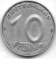 10 PFENNIG Alu RDD 1950 A CL. 30 - [ 6] 1949-1990 : GDR - German Dem. Rep.
