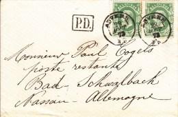 Nr 30 (2), Brief Van Anvers Naar Bad Schwalbach, PD, Gericht Aan Paul Cogels (5521) - 1869-1883 Léopold II