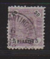 Levant Autrichien //  N 25 // 5 Pi Sur 50 K Violet  //  Oblitéré //  Constantinople  //  Côte 75 € - Levant Autrichien