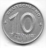 10 PFENNIG Alu RDD 1952 A CL. 37 - [ 6] 1949-1990 : GDR - German Dem. Rep.