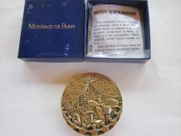 MEDAILLE DES RETRAITES  MONNAIE DE PARIS CGT TRANSPORTS AVION BATEAU TRAIN BUS - Professionals / Firms