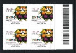 """2015 - EXPO Esposizione Universale """"Milano 2015"""" Mascotte ** QUARTINA - 6. 1946-.. Repubblica"""