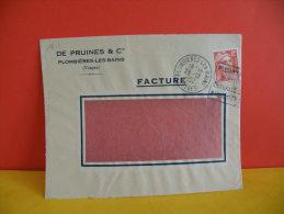 Flamme - 88 Vosges, Plombières, Guérit Entérite Et Rhumatisme (De Pruines @ Cie ) - 23.12.1952 - Marcophilie (Lettres)