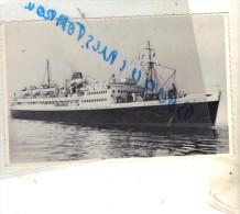 """Cpsm Bateau  Identifié """" Président De Cazalet  """"   Compagnie De Navigation Mixte   Transport Maritime - Dampfer"""