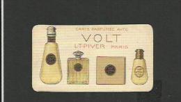 Carte Parfumée VOLT De LT Piver Paris Avec Au Dos Calendrier De 1929 - Antiquariat (bis 1960)