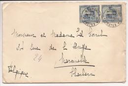L. Du Cabinet Du Gouverneur Des Territoires Du Ruanda-Urundi Affr. N°71 En Paire Càd USUMBURA/1931 Pour Charleroi. - 1924-44: Lettres