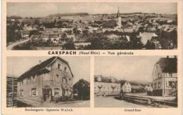 Carspach Vue Générale Boulangerie épicerie Walch Grand'rue - VOIR ETAT - Non Classés
