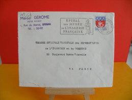 Flamme - 88 Vosges, Épinal, Musée De L'imagerie Français - 14.2.1966 - Marcophilie (Lettres)