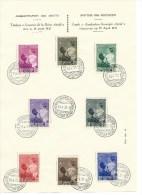 "België   OBC   447 / 454    Herdenkingsblad   ""Aandenken Koningin Astrid"" - Souvenir Cards"