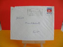 Flamme - 88 Vosges, Darney, Des Villes D´eau - 5.2.1965 - Marcophilie (Lettres)