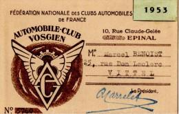 FEDERATION NATIONALE DES CLUBS AUTOMOBILES DE FRANCE. EPINAL (88)