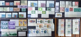 SWITZERLAND 1945-1982 * 66 Dummy Stamps * Red * Specimen Essai Essay Proof Trial Prueba Probedruck Test - Errors & Oddities