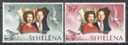 St. Helena 1972 Geschichte Persönlichkeiten Royals Queen Silberhochzeit Königin Elisabeth II. Prinz Philip, Mi. 258-9 ** - St. Helena