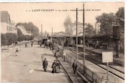 Cpa  77   LAGNY   THORIGNY     La Gare  Debarcadere Du Cote De Paris      Train - Autres Communes