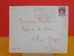 Flamme - 88 Vosges, Vittel, Campagne Thermale - 15.7.1965 - Marcophilie (Lettres)