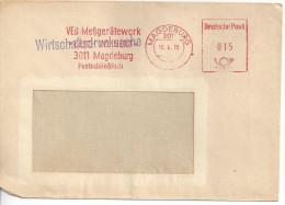 """Germany (DDR) Magdeburg 10.4.70  (Veb Messgeratewerk """"Erich Weinert"""") See Scans - DDR"""