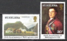 St. Helena 1980 Geschichte Persönlichkeiten Adelige Herzog Von Wellington Kunst Gemälde Francisco Goya, Mi. 331-2 ** - St. Helena