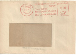 Germany (DDR) Leipzig 16.12.74  (Metallgusskombinat) See Scans - DDR