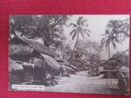 VILLAGE SCENE WHIT COCOANUT PALMS - Cartes Postales