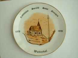 ASSIETTE TIR A L�ARC  - CENTENAIRE SOCIETE SAINT GEORGE WATTERDAL 1878 1978
