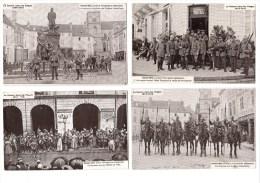 Lot De 4 Cartes Postales, Guerre Dans Les Vosges, Saint-Dié, Bicyclettes - Oorlog 1914-18
