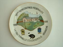 ASSIETTE TIR A L�ARC  - 10 �mes RENCONTRES FEDERALES LA FRATERNELLE COUDEKERQUE BRANCHE  1998