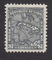 Cuba, Scott #262, Mint Hinged, Map Of Cuba, Issued 1914 - Ungebraucht