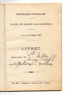LIVRET TRAVAIL DES ENFANTS DANS L'INDUSTRIE 1909 QUILLAN D 09 - Documents Historiques