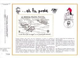 2291 (Yvert) Sur Feuillet 699 S Du Catalogue CEF (520 / Soie) - Série Création Philatélique Jean Eiffel - France 1983 - FDC