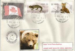 Belle Lettre Du Canada., Ville D´Iqaluit,Territoire Du Nunavut, Canadian Arctic Archipelago, Adressée En Andorre - Philatélie Polaire