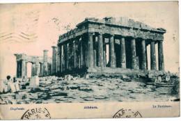 Carte Postale Ancienne De GRECE - ATHENES - LE PARTHENON - Grecia