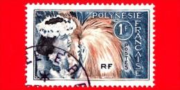 POLINESIA FRANCESE - Usato - 1964 - Folklore - Danza - Tahitian Dancer - 1 - Polinesia Francese